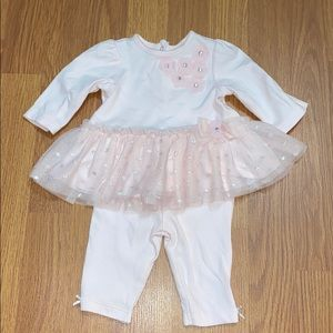 Little Me Pink tulle outfit size 3months
